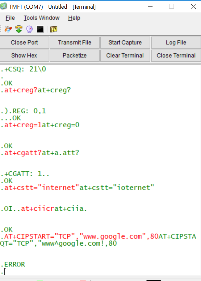 at+cipstart alwys get error with som800l - SIM800L