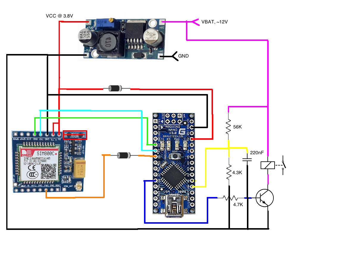 Guidance for Interface SIM 800c with Arduino - SIM800C