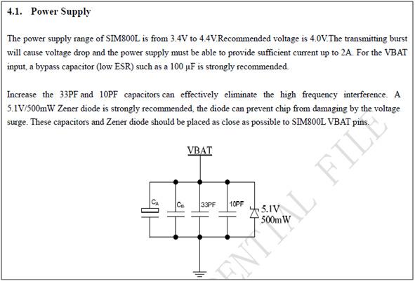 Powering SIM800 - SIM800L - Embedded Advice Forum